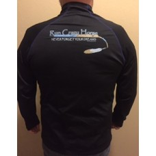 Men's 1/4 Zip Pullover- Black and Blue