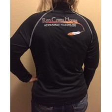 RCH Women's 1/4 Zip pullover-  black with orange print