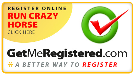 Register Online for the Run Crazy Horse marathon using Get Me Registered dot com, a better way to register.