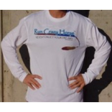 Run Crazy Horse White Long Sleeve Tech Shirt