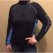 RCH Women's 1/4 Zip Pullover- Black and Blue