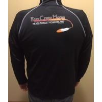 RCH Men's 1/4 Zip Pullover Black with Orange