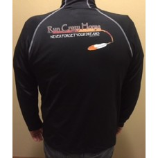 RCH Men's 1/4 Zip Pullover Black with Orange