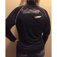 RCH Women's 1/4 Zip pullover-  black with orange print